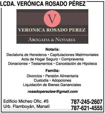 Lcda. Verónica Rosado Pérez | Infopáginas