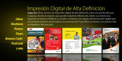 • Impresión Digital • Impresión Digital Formato Grande • Impresión en General • Reproducción de Copias por Volúmen