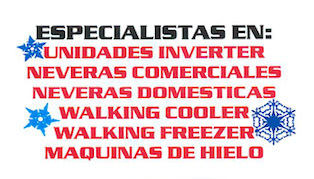 • Aires acondicionados (Servicio y Mantenimiento) • Aires Autos / Botes • Refrigeración
