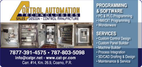 • Control Automation Technologies trabaja en edificios residenciales, comerciales e industriales para proporcionar servicios eléctricos completos y de calidad superior.  Nuestro equipo de expertos puede ayudar con: • Manufactura de paneles • Cableado general • Iluminación • Interruptores de seguridad • Cuadros de distribución • Pruebas y etiquetado