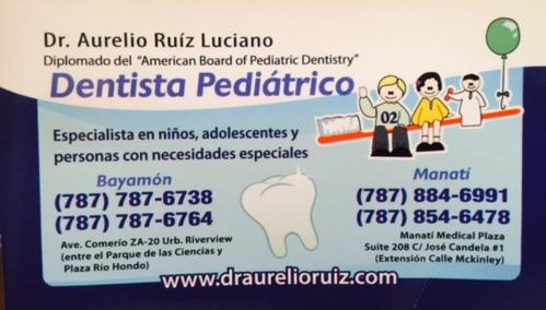 Dr  Aurelio Ruiz Luciano - Dentista Pediátric | Infopáginas