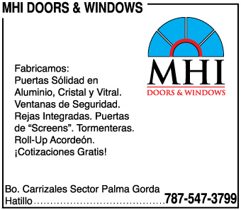• Puertas sólidas en aluminio, cristal y vitral 