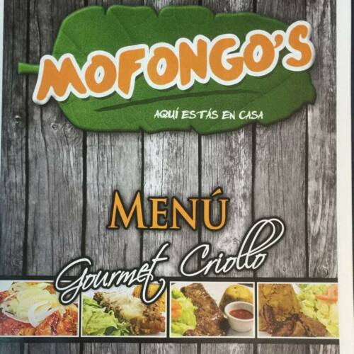 Restaurante Comida Criolla Especialidad Mofongo Salón de Actividades Almuerzo Cena Café y Bebidas