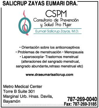 Ofrecemos los siguientes servicios:  •Orientación sobre los anticonceptivos •Problemas de mentsruación •Menopausia •Laparoscopía •Trastorno menstrual (alteraciones del sangrado menstrual, sangrado abundante, retraso menstrual,  •Miomatosis uterina (tumores del útero) •Tumor o quistes del Ovario •Problemas de vías urinarias: Incontinencia urinaria, infección vías urinarias, salida involuntaria de orina a los esfuerzos, urgencia urinaria •Entre otros