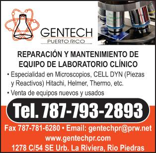 Especialistas en microscopios y hematología clínica.