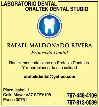 Realizamos toda clase de Prótesis Dentales, Dentaduras, Parciales, Coronas, Retenedores, Etc. Reparamos todo tipo de trabajo dental.