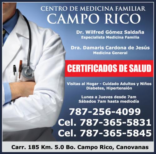 Visitas al hogar, cuidado de niños y adultos. Diabetes e hipertensión.  Certificados de Salud