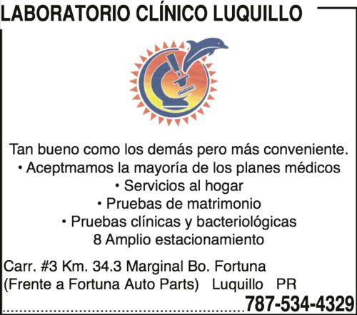 Laboratorio Clínico Luquillo | Infopáginas