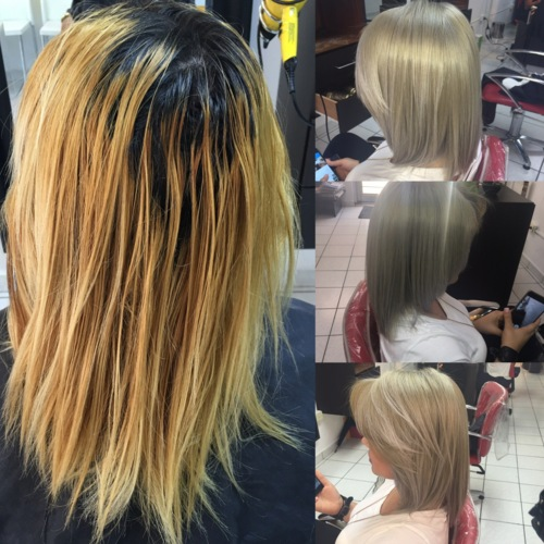 """Tratamientos para el cabello:  • Brazilian • Keratina • Mascarillas • Botox • Alisados • Productos para el cuidado de cabello • Tinte, decoloración, remoción, corte, estilo, """"blower"""" ,  """"highlights""""... • Tecnica de uñas • Manicura, Pedicura, Uñas en acrilico regular y  2 tonos • Esmalte en gel • Depilación cejas y bozo"""