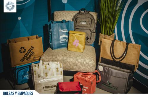 • Promo items • Tazas y vasos • Bolsas, bultos y totes • Trofeos, placas y reconocimiento • Gorras, camisas y uniformes • Bolígrafos y lápices • Tradeshow Goodies  • Agendas y journals • USB's & Powerbanks