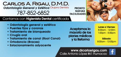 Examen general, Limpieza, Restauraciones Estéticas, Puentes y Coronas, Ortodoncia, Periodoncia, Endodoncia (Root Canal) y otros.