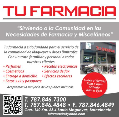 Perfumes, cosméticos, etc.  Entrega a domicilio, recetas electrónicas, servicios de fax.