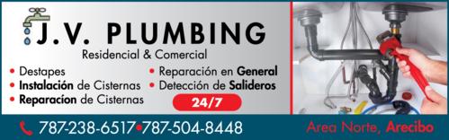 • Servicio de Plomería • Destapes de Tuberias • Plomería en general •Limpieza de Cisternas •Mantenimiento de cisternas •Plomeros en Arecibo