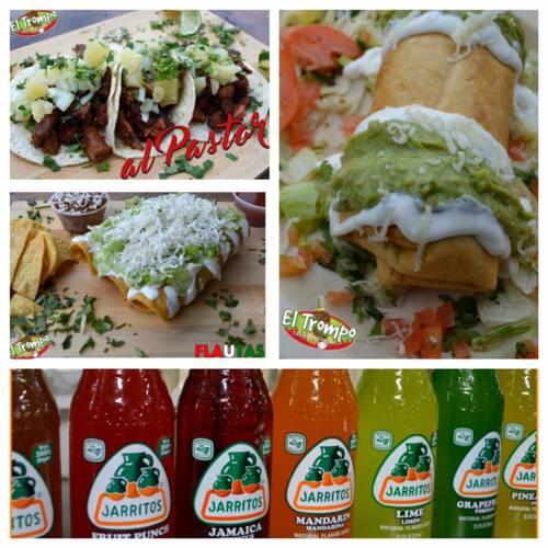 •Tacos  • Quesadillas •Sopas • Ensaladas •Platos Principales •Burritos •Tragos