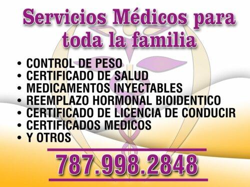 Reemplazo hormonal bioidentico, certificado de salud, certificados médicos generales, licencia de conducir.