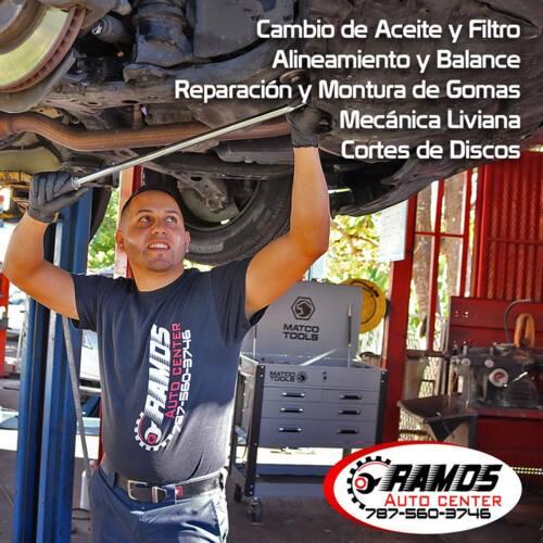 •Cambio de Aceite y Filtro •Alineamiento y Balance •Reparación y Montura de Gomas •Mecánica Liviana •Cortes de Discos