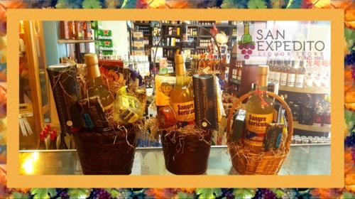 – Finas canastas gourmet con licores, vinos, champagne de alta calidad al mejor precio – Se hace entregas en Mayagüez también Bar de aceros y cristalería, contamos con marcas conocidas que no todo el mundo conoce