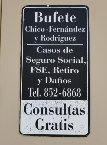 •Casos de Seguro Social •Corporación del Fondo del Seguro del Estado •Comisión Industrial  •Notaria •Daños y Perjuicios •Civiles •Consulta gratis, por cita